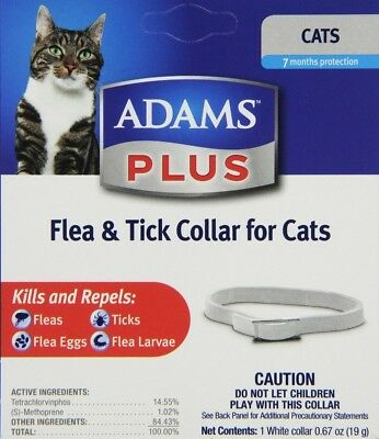 Adams Plus Flea and Tick Collar for Cats | 7 Month Protection