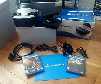 PlayStation VR with camera, Valkyrie and Resident Evil Boihazard