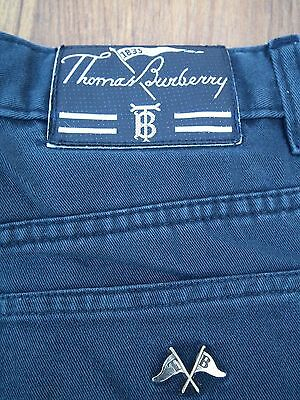 "Genuine Thomas Burberry Dark Blue Chino/trousers/jeans Size W30"" L31"" -Flag Logo"