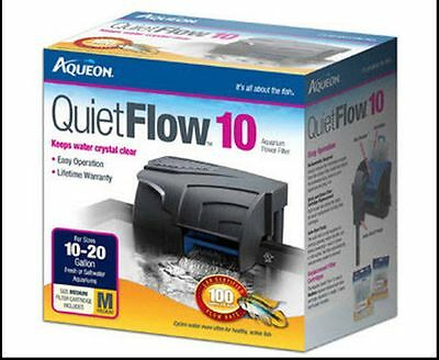 Aqueon Quiet Flow 10 Power Filter For Aquariums. 100 Gph.