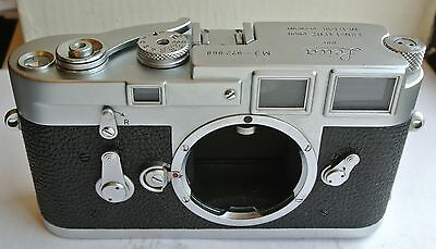 Leica Leitz M3 chrome black camera body single stroke, excellent condition