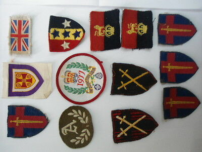 13 Scout  / Army cloth badges / Patches