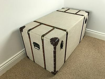 *FACTORY SECOND*  Extra Large Canvas Storage Chest / VINTAGE STYLE TRUNK