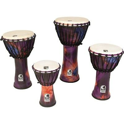 Toca Synergy Freestyle Rope Tuned Djembe 12 in. Purple LN
