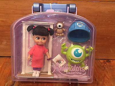 BNWT Disney Official Boo Monsters Inc Animators Collection Mini doll play set