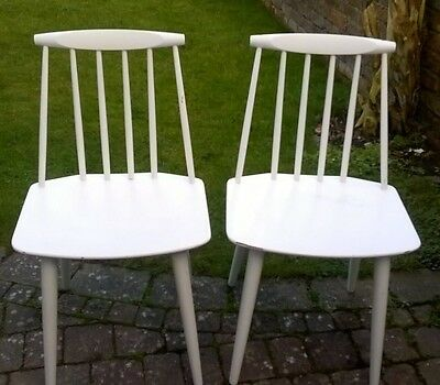 Folke Palsson - Vintage - Mid Century Danish FDB Mobler Spindle Back Chairs x 2