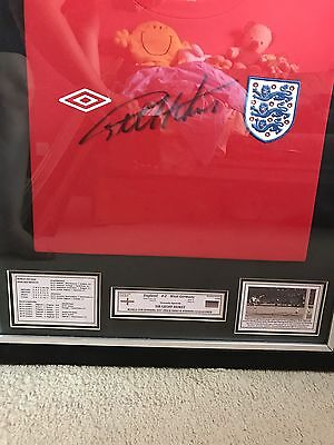 England Football Shirt Signed By Geoff Hirst