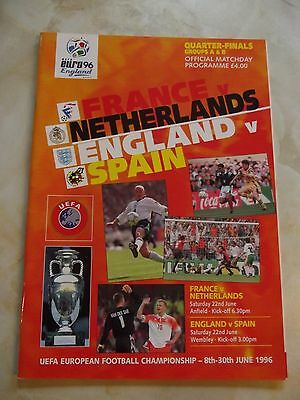 1996 EURO QUARTER FINALS GROUPS A+B FRANCE, ENGLAND  SPAIN  and HOLLAND
