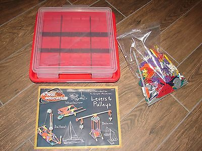 K'NEX Education Intro to Simple Machines Levers and Pulleys Set With Storage Box