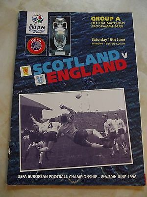 1996 Euro Group A Match Programme Scotland Wembley June 1996