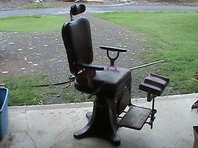 Reliance Chair Antique Repurpose Barber chair Man Cave
