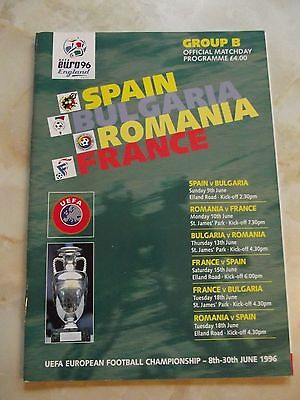 EURO 1996 GROUP B PROGRAMME SPAIN, BULGARIA, ROMANIA  and FRANCE