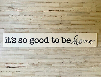 """Large Rustic Wood Sign - """"It's So Good To Be Home"""" Fixer Upper Style, Home Decor"""