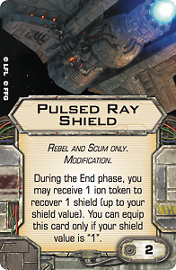 Pulsed Ray Shield X-wing modification Upgrade card