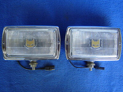 Pair-2 Sev 850 Marchal Fog Lamps-Chrome Driving Lights-Mustang Gt-Street Rod