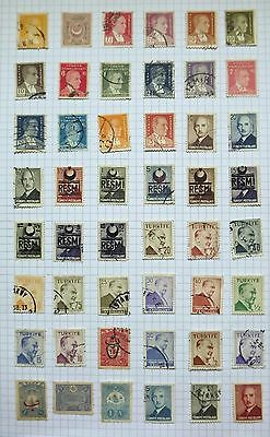 Turkey. Collection of 48 stamps.      A