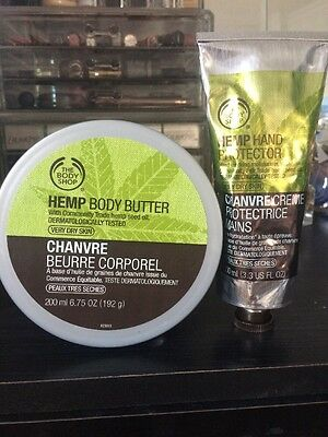⭐️ The Body Shop Hemp Hand Protector 100ml & Body Butter 200ml £27! Dry Skin