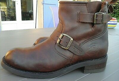 boots homme sendra 2976 marron taille 44 tout cuir
