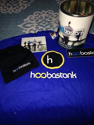 """Hoobastank """"Crawling In The Dark"""" Paint Can Promo With CD/T-Shirt/Beanie/Sticker"""
