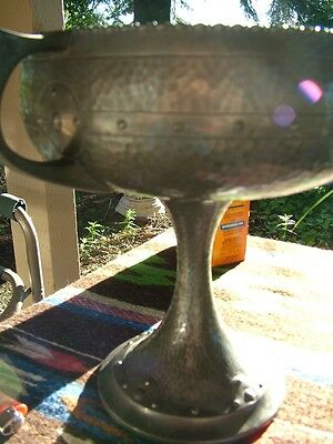 Antique Arts And Crafts Pewter Nut Bowl