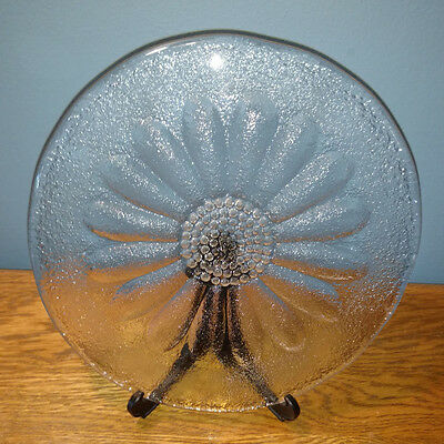 Dartington Daisy 18cm Glass Cheese Platter / Frank Thrower