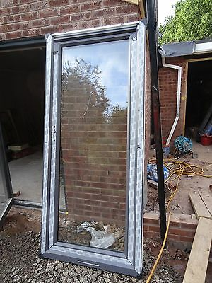 Grey upvc door 220cm x 98cm with low access sill