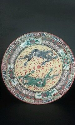 Chinese antique/vintage small dragon plate