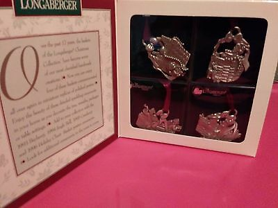 Longaberger Pewter Ornaments - 1997 gift box set