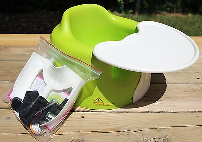 Lime Green BUMBO Baby Floor Chair Seat & Play Tray with Safety Strap Kit
