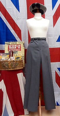 1940`s WW11 Wartime vintage Land girl  style wider  trousers Size 10 R