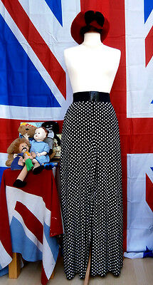 Retro vintage style polka dot  wide baggy trousers Size 12
