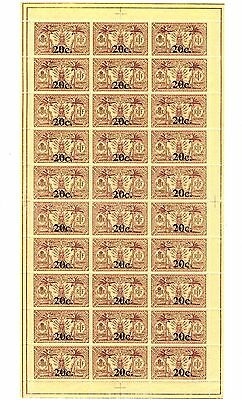 NEW HEBRIDES FRANCE 1920-21- Sheet of 30 SG F36 MNH - Excellent condition