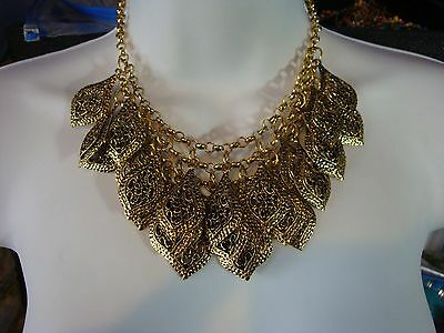 Vintage Statement necklace boho Bohemian chic dangle runway