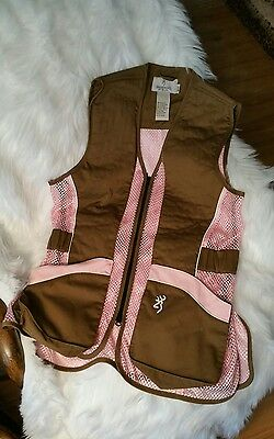 Browning pink/brown womans hunting vest size medium