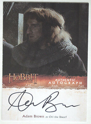 Hobbit Desolation of Smaug Autograph Card AB  Adam Brown as Ori the Dwarf