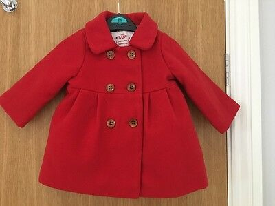 M&S Baby Coat Red 3-6 Months.
