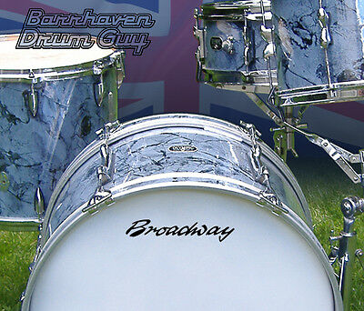 Broadway, Vintage, Repro Logo - Adhesive Vinyl Decal, for Bass Drum Reso Head