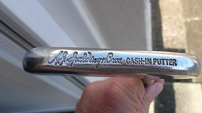 Vintage A.G.Spalding bros cash-in  putter metal shaft leather grip