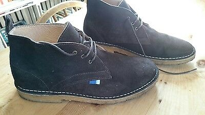 mens crew clothing co. size 8 desert boots brown suede leather
