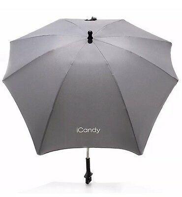 Genuine iCandy Universal Pushchair Parasol, Grey (sold without clamp) FREE POST