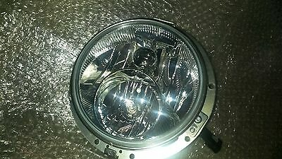 "7"" Headlight with Mounting Ring - Harley Street Electra Glide Road King Touring"