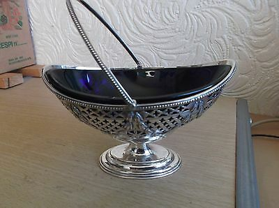 Solid Silver Bon Bon Basket/Dish London 1896