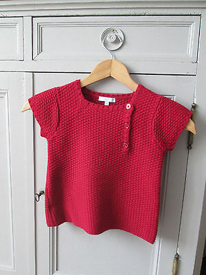 Pull rouge Jacadi taille 6 ans