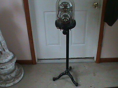 Electro Dental Pump  Vintage Dentist Equipment Steampunk Glass Dome Cast Stand