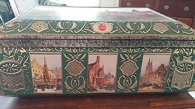 Vintage Biscuit Tin Box Nurnberger Germany E.otto Schmidt 1998 #90469