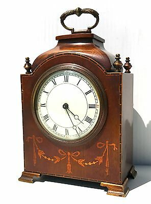 A Quality French Inlaid Walnut Mantle Clock