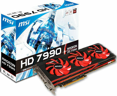 MSI HD7990 6144Mb  (6 GB) GDDR5 (R7990-6GD5)  | Last Graphic Card HD 7990 |
