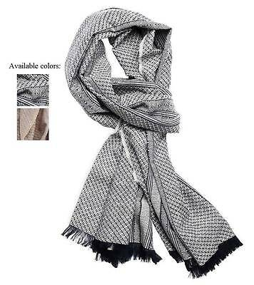 New Armani Exchange AX Mens Textured Weave Scarf e6sc802