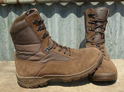 British Army Issue Yds Falcon Brown Suede Desert Patrol Boots - 12 M Grade
