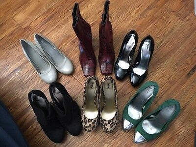 Lot of 6 Mossimo And Franco Sarto Pumps And Short Boots Size 5.5 - Preowned